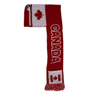 WS030 Canada Hoodie Scarf (Red & White)