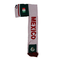 WS030 Mexico Hoodie Scarf (White & Kelly Green)