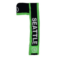 WS040 Seattle Hoodie Scarf (Navy & Lime)