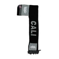 WS030 Cali Bear Hoodie Scarf (Black & Light Grey)