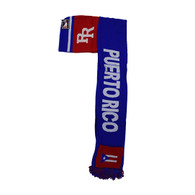 WS030 Puerto Rico Hoodie Scarf (Royal & Red)