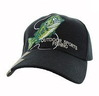 VM441 Fishing Velcro Cap (Black & Hunting Camo)
