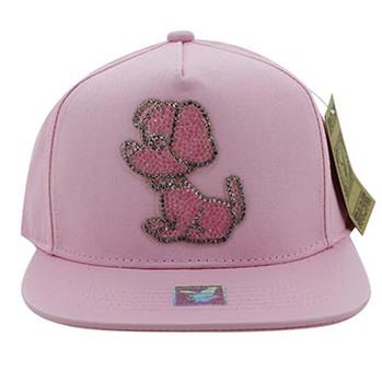b9dc16dc466b8f SM011 Skull Snapback Cap Hat (Solid Light Pink) - Ace Cap, Inc.