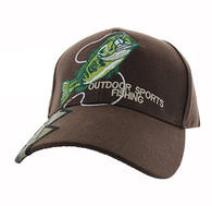 VM441 Fishing Velcro Cap (Brown & Hunting Camo)