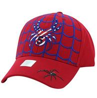VM019 Adult Spider Cotton Velcro Cap (Red & Red)