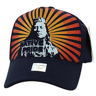 VM932 Native Pride Velcro Cap (Solid Navy)