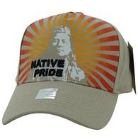 VM932 Native Pride Velcro Cap (Solid Khaki)