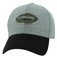 VM815 Fishing Velcro Cap (Grey & Black)