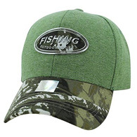 VM815 Fishing Velcro Cap (Green & Black)