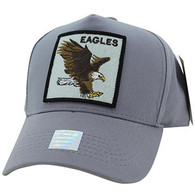 VM918 Eagles Velcro Cap (Grey & Grey)