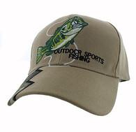 VM441 Fishing Velcro Cap (Khaki & Hunting Camo)