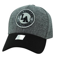VM804 Los Angeles City Baseball Hat Cap (Charcoal & Black)