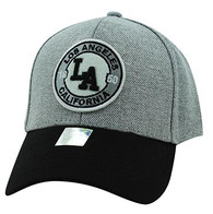 VM804 Los Angeles City Baseball Hat Cap (Grey & Black)
