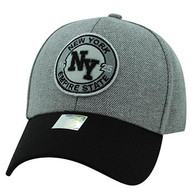 VM804 New York City Baseball Hat Cap (Grey & Black)