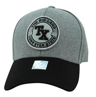 VM804 Texas State Baseball Hat Cap (Grey & Black)