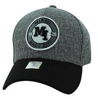 VM804 Miami City Baseball Hat Cap (Charcoal & Black)