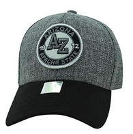 VM804 Arizona State Baseball Hat Cap (Charcoal & Black)