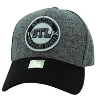 VM804 St. Louis City Baseball Hat Cap (Charcoal & Gold)