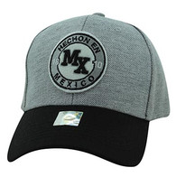 VM804 Mexico Baseball Hat Cap (Grey & Black)
