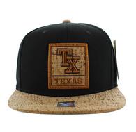 SM960 Texas State Snapback (Black & Cork)