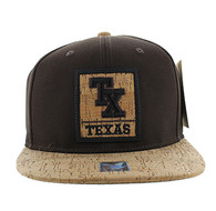 SM960 Texas State Snapback (Brown & Cork)