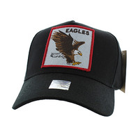 VM918 Eagles Velcro Cap (Black & Black)