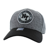 VM804 New York City Baseball Hat Cap (Charcoal & Black)