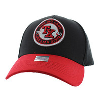 VM804 Texas State Baseball Hat Cap (Black & Red)