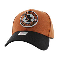 VM804 Texas State Baseball Hat Cap (Texas Orange & Black)