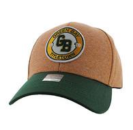 VM804 Green Bay City Baseball Hat Cap (Gold & Dark Green)