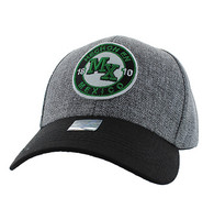 VM804 Mexico Baseball Hat Cap (Charcoal & Black)