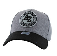 VM804 Arizona State Baseball Hat Cap (Grey & Black)