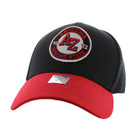 VM804 Arizona State Baseball Hat Cap (Black & Red)