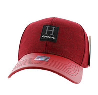 VM859 Houston Baseball Cap Hat (Red & Red)
