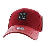 VM859 Puerto Rico Baseball Cap Hat (Red & Red)