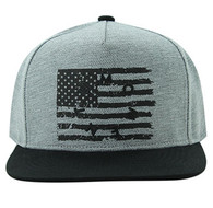 SM912 USA Flag Snapback (Grey & Black)