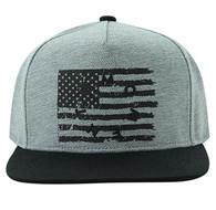 SM912 USA Flag Snapback (Grey & Black)