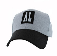 VM525 Alabama State Velcro Cap (Light Grey & Black)