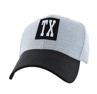 VM525 Texas State Baseball Hat Cap (Light Grey & Black)