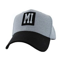 VM525 Miami City Baseball Hat Cap (Light Grey & Black)