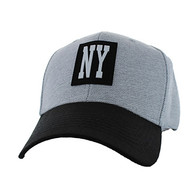 VM525 New York City Baseball Hat Cap (Light Grey & Black)