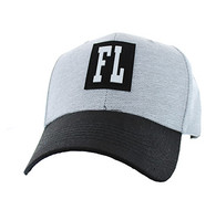 VM525 Florida State Baseball Hat Cap (Light Grey & Black)