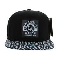 SM909 Los Angeles City Snapback (Black & Black)