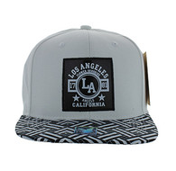 SM909 Los Angeles City Snapback (White & Black)