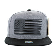 SM928 USA Flag Snapback (Grey & Black)