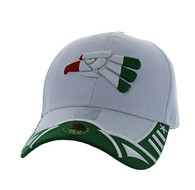 VM421 Mexico Eagle Baseball Velcro Cap (White & Kelly Green)