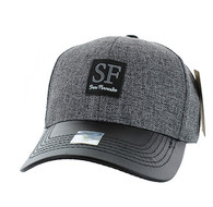 VM859 San Francisco City Baseball Cap (Charcaol & Black)