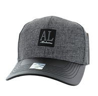 VM859 Alabama State Baseball Cap (Charcaol & Black)