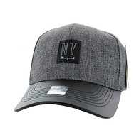 VM859 New York City Baseball Cap (Charcaol & Black)