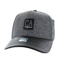 VM859 California Baseball Cap (Charcaol & Black)